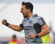 12 January 2019; James Mitchell of Connacht celebrates after scoring his side's second try during the Heineken Challenge Cup Pool 3 Round 5 match between Connacht and Sale Sharks at the Sportsground in Galway. Photo by Harry Murphy/Sportsfile
