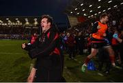12 January 2019; Billy Burns of Ulster and team-mates celebrate at the final whistle following the Heineken Champions Cup Pool 4 Round 5 match between Ulster and Racing 92 at the Kingspan Stadium in Belfast, Co. Antrim. Photo by David Fitzgerald/Sportsfile