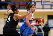 12 January 2019; Claire Rockall of Marnee in action against Peggy Black of Swords Thunder during the Hula Hoops Women's Division One National Cup Semi-Final match between Maree and Swords Thunder at Neptune Stadium in Cork.  Photo by Eóin Noonan/Sportsfile