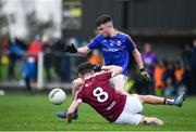 12 January 2019; Peter Lynn of Longford in action against Sean Flanagan of Westmeath during the Bord na Mona O'Byrne Cup semi-final match between Westmeath and Longford at Downs GAA Club in Westmeath. Photo by Sam Barnes/Sportsfile