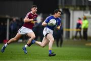12 January 2019; Darren Quinn of Longford in action against Sean Flanagan of Westmeath during the Bord na Mona O'Byrne Cup semi-final match between Westmeath and Longford at Downs GAA Club in Westmeath. Photo by Sam Barnes/Sportsfile