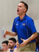 12 January 2019; Belfast Star head coach Adrian Fulton during the Hula Hoops Men's Pat Duffy National Cup semi-final match between UCD Marian and Belfast Star at the Mardyke Arena UCC in Cork.  Photo by Brendan Moran/Sportsfile