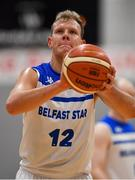 12 January 2019; Mark Berlic of Belfast Star during the Hula Hoops Men's Pat Duffy National Cup semi-final match between UCD Marian and Belfast Star at the Mardyke Arena UCC in Cork. Photo by Brendan Moran/Sportsfile