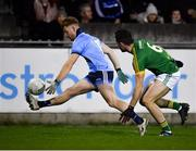 12 January 2019; Aaron Byrne of Dublin in action against Donal Keogan of Meath during the Bord na Mona O'Byrne Cup semi-final match between Dublin and Meath at Parnell Park in Dublin. Photo by Sam Barnes/Sportsfile