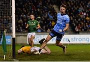 12 January 2019; Robbie McDaid of Dublin celebrates after scoring his side's first goal during the Bord na Mona O'Byrne Cup semi-final match between Dublin and Meath at Parnell Park in Dublin. Photo by Sam Barnes/Sportsfile