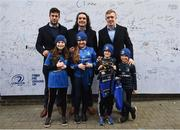 12 January 2019; Leinster players, from left, Caelan Doris, James Lowe and Dan Leavy with supporters at Autograph Alley prior to the Heineken Champions Cup Pool 1 Round 5 match between Leinster and Toulouse at the RDS Arena in Dublin. Photo by Stephen McCarthy/Sportsfile