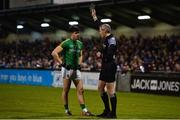 12 January 2019; Seamus Lavin of Meath is shown a black card by referee Fergal Kelly during the Bord na Mona O'Byrne Cup semi-final match between Dublin and Meath at Parnell Park in Dublin. Photo by Sam Barnes/Sportsfile
