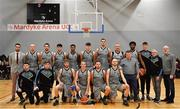 12 January 2019; The Garvey's Tralee Warriors tam prior to the Hula Hoops Men's Pat Duffy National Cup semi-final match between Pyrobel Killester and Garvey's Tralee Warriors at the Mardyke Arena UCC in Cork.  Photo by Brendan Moran/Sportsfile