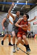 12 January 2019; Ciaran Roe of Pyrobel Killester in action against Eoin Quigley of Garvey's Tralee Warriors during the Hula Hoops Men's Pat Duffy National Cup semi-final match between Pyrobel Killester and Garvey's Tralee Warriors at the Mardyke Arena UCC in Cork. Photo by Brendan Moran/Sportsfile