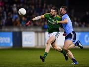 12 January 2019; Michael Newman of Meath in action against Seán McMahon of Dublin during the Bord na Mona O'Byrne Cup semi-final match between Dublin and Meath at Parnell Park in Dublin. Photo by Sam Barnes/Sportsfile
