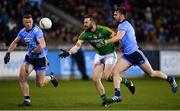 12 January 2019; Michael Newman of Meath in action against Ciarán Reddin, left, and Seán McMahon of Dublin during the Bord na Mona O'Byrne Cup semi-final match between Dublin and Meath at Parnell Park in Dublin. Photo by Sam Barnes/Sportsfile