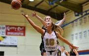 12 January 2019; Aoife Callaghan of Ulster University Elks in action against Ciara Byrne of Portlaoise Panthers during the Hula Hoops Women's Division One National Cup semi-final match between Portlaoise Panthers and Ulster University Elks at Neptune Stadium in Cork.  Photo by Eóin Noonan/Sportsfile