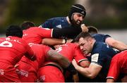 12 January 2019; Cian Healy and Scott Fardy, left, and Leinster during the Heineken Champions Cup Pool 1 Round 5 match between Leinster and Toulouse at the RDS Arena in Dublin. Photo by Stephen McCarthy/Sportsfile