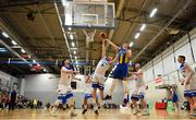 12 January 2019; Paddy McGaharan of Belfast Star and Mariusz Markowicz of UCD Marian contest possession during the Hula Hoops Men's Pat Duffy National Cup semi-final match between UCD Marian and Belfast Star at the Mardyke Arena UCC in Cork.  Photo by Brendan Moran/Sportsfile