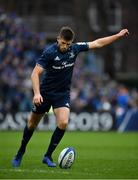 12 January 2019; Ross Byrne of Leinster kicks a conversion during the Heineken Champions Cup Pool 1 Round 5 match between Leinster and Toulouse at the RDS Arena in Dublin. Photo by Seb Daly/Sportsfile