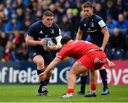 12 January 2019; Tadhg Furlong of Leinster in action against Julien Marchand of Toulouse during the Heineken Champions Cup Pool 1 Round 5 match between Leinster and Toulouse at the RDS Arena in Dublin. Photo by Seb Daly/Sportsfile