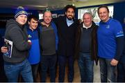 12 January 2019; Guests in The Blue Room with Leinster's Joe Tomane prior to the Heineken Champions Cup Pool 1 Round 5 match between Leinster and Toulouse at the RDS Arena in Dublin. Photo by Seb Daly/Sportsfile