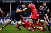 12 January 2019; Jack Conan of Leinster is tackled by Zack Holmes of Toulouse during the Heineken Champions Cup Pool 1 Round 5 match between Leinster and Toulouse at the RDS Arena in Dublin. Photo by Ramsey Cardy/Sportsfile