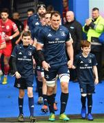 12 January 2019; Leinster captain Rhys Ruddock with matchday mascots 11 year old Rory McGrath, from Swords, Co. Dublin, and 8 year old Rian Alonso, from Harolds Cross, Dublin, prior to the Heineken Champions Cup Pool 1 Round 5 match between Leinster and Toulouse at the RDS Arena in Dublin. Photo by Ramsey Cardy/Sportsfile
