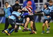 12 January 2019; Action from the Bank of Ireland Half-Time Minis match between Enniscorthy RFC and MU Barnhall RFC during the Heineken Champions Cup Pool 1 Round 5 match between Leinster and Toulouse at the RDS Arena in Dublin. Photo by Ramsey Cardy/Sportsfile
