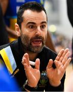 12 January 2019; UCD Marian head coach Ioannis Liapakis during the Hula Hoops Men's Pat Duffy National Cup semi-final match between UCD Marian and Belfast Star at the Mardyke Arena UCC in Cork.  Photo by Brendan Moran/Sportsfile