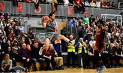 12 January 2019; Eoin Quigley of Garvey's Tralee Warriors attempts to keep the ball in play during the Hula Hoops Men's Pat Duffy National Cup semi-final match between Pyrobel Killester and Garvey's Tralee Warriors at the Mardyke Arena UCC in Cork.  Photo by Brendan Moran/Sportsfile