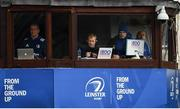 12 January 2019; The Leinster coaching team, from left, senior coach Stuart Lancaster, head coach Leo Cullen, backs coach Felipe Contepomi and kicking coach and head analyst Emmet Farrell during the Heineken Champions Cup Pool 1 Round 5 match between Leinster and Toulouse at the RDS Arena in Dublin. Photo by Ramsey Cardy/Sportsfile