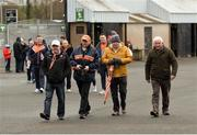 13 January 2019; A general view of Armagh supporters arriving for the Bank of Ireland Dr McKenna Cup semi-final match between Donegal and Armagh at Healy Park in Tyrone. Photo by Oliver McVeigh/Sportsfile