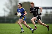 13 January 2019; Niall Kilroy of Roscommon in action against Seán Carrabine of Sligo during the Connacht FBD League semi-final match between Roscommon and Sligo at Dr. Hyde Park in Roscommon. Photo by David Fitzgerald/Sportsfile