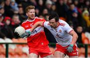 13 January 2019; Enda Lynn of Derry in action against Aidan McCrory of Tyrone during the Bank of Ireland Dr McKenna Cup semi-final match between Tyrone and Derry at the Athletic Grounds in Armagh. Photo by Sam Barnes/Sportsfile