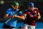 13 January 2019; Fergal Whitely of Dublin in action against Sean Kilduff of Galway during the Bord na Mona Walsh Cup semi-final match between Dublin and Galway at Parnell Park in Dublin.  Photo by Ramsey Cardy/Sportsfile