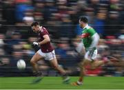 13 January 2019; Cillian McDaid of Galway in action against David Drake of Mayo during the Connacht FBD League semi-final match between Galway and Mayo at Tuam Stadium in Galway. Photo by Harry Murphy/Sportsfile