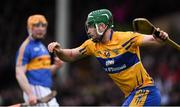 13 January 2019; Cathal McInerney of Clare after scoring his side's first goal during the Co-Op Superstores Munster Hurling League Final 2019 match between Clare and Tipperary at the Gaelic Grounds in Limerick. Photo by Piaras Ó Mídheach/Sportsfile
