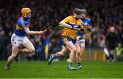 13 January 2019; Michael O'Neill of Clare in action against Donagh Maher, left, and Alan Flynn of Tipperary during the Co-Op Superstores Munster Hurling League Final 2019 match between Clare and Tipperary at the Gaelic Grounds in Limerick. Photo by Piaras Ó Mídheach/Sportsfile