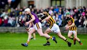 13 January 2019; Liam Ryan of Wexford in action against Kevin Kelly of Kilkenny during the Bord na Mona Walsh Cup semi-final match between Wexford and Kilkenny at Bellefield in Wexford. Photo by Matt Browne/Sportsfile