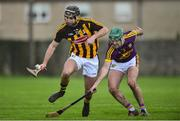 13 January 2019; Kevin Kelly of Kilkenny in action against Shaun Murphy of Wexford during the Bord na Mona Walsh Cup semi-final match between Wexford and Kilkenny at Bellefield in Wexford. Photo by Matt Browne/Sportsfile