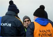 13 January 2019; Roscommon manager Anthony Cunningham speaks to members of his backroom team following the Connacht FBD League semi-final match between Roscommon and Sligo at Dr. Hyde Park in Roscommon. Photo by David Fitzgerald/Sportsfile
