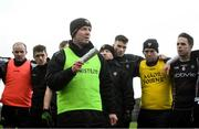 13 January 2019; Sligo manager Paul Taylor addresses his players following the Connacht FBD League semi-final match between Roscommon and Sligo at Dr. Hyde Park in Roscommon. Photo by David Fitzgerald/Sportsfile