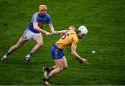 13 January 2019; Aidan McCarthy of Clare in action against Séamus Callanan of Tipperary during the Co-Op Superstores Munster Hurling League Final 2019 match between Clare and Tipperary at the Gaelic Grounds in Limerick. Photo by Piaras Ó Mídheach/Sportsfile