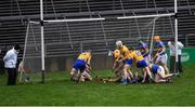 13 January 2019; Diarmuid Ryan of Clare scores his side's third goal during the Co-Op Superstores Munster Hurling League Final 2019 match between Clare and Tipperary at the Gaelic Grounds in Limerick. Photo by Piaras Ó Mídheach/Sportsfile