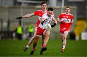 13 January 2019; Kyle Coney of Tyrone in action against Conor Mullholland of Derry during the Bank of Ireland Dr McKenna Cup semi-final match between Tyrone and Derry at the Athletic Grounds in Armagh. Photo by Sam Barnes/Sportsfile