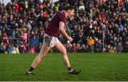 13 January 2019; Thomas Flynn of Galway celebrates scoring the winning penalty following the Connacht FBD League semi-final match between Galway and Mayo at Tuam Stadium in Galway. Photo by Harry Murphy/Sportsfile