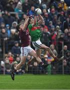 13 January 2019; Fionn McDonagh of Mayo in action against Johnny Heaney of Galway during the Connacht FBD League semi-final match between Galway and Mayo at Tuam Stadium in Galway. Photo by Harry Murphy/Sportsfile