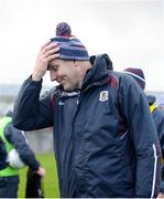 13 January 2019; Galway manager Kevin Walsh reacts as the game goes to a penalty shoot-out during the Connacht FBD League semi-final match between Galway and Mayo at Tuam Stadium in Galway. Photo by Harry Murphy/Sportsfile