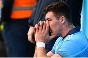 13 January 2019; John Hetherton of Dublin after being shown a red card during the Bord na Mona Walsh Cup semi-final match between Dublin and Galway at Parnell Park in Dublin.  Photo by Ramsey Cardy/Sportsfile