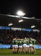 12 January 2019; The Meath team huddle ahead of the Bord na Mona O'Byrne Cup semi-final match between Dublin and Meath at Parnell Park in Dublin. Photo by Sam Barnes/Sportsfile