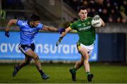 12 January 2019; Darragh Campion of Meath in action against Conor Mullally of Dublin during the Bord na Mona O'Byrne Cup semi-final match between Dublin and Meath at Parnell Park in Dublin. Photo by Sam Barnes/Sportsfile