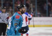 13 January 2019; Blair Riley of Belfast Giants reacts during the IIHF Continental Cup Final match between Arlan Kokshetau and Stena Line Belfast Giants at the SSE Arena in Belfast, Co. Antrim. Photo by Eoin Smith/Sportsfile