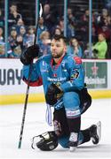 13 January 2019; A dejected David Rutherford of Belfast Giants following the IIHF Continental Cup Final match between Arlan Kokshetau and Stena Line Belfast Giants at the SSE Arena in Belfast, Co. Antrim. Photo by Eoin Smith/Sportsfile