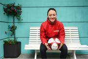 14 January 2019; The SPAR FAI Primary School 5s Programme was officially launched today by former Republic of Ireland International Keith Andrews and current Republic of Ireland Women's International Megan Campbell, pictured. Over 35,000 boys and girls from 4th, 5th and 6th class are expected to take part in this fun and inclusive nationwide programme. Register for the SPAR5s by February 15th at www.fai.ie/primary5  Photo by Stephen McCarthy/Sportsfile